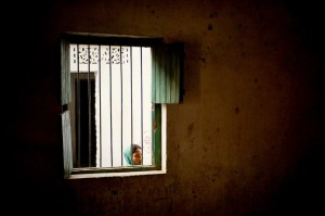 India woman window